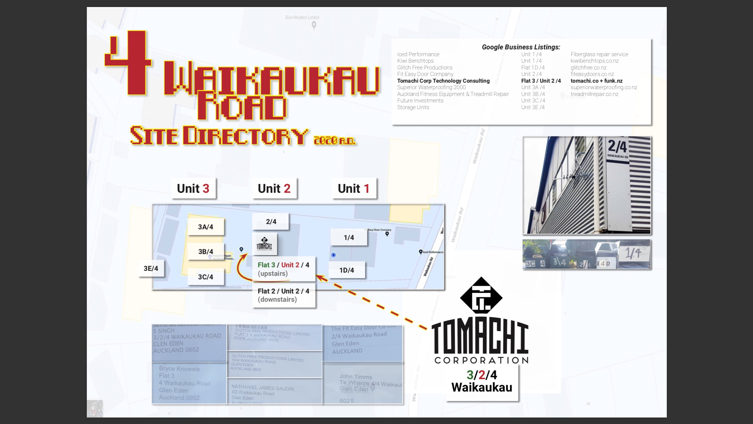 4 Waikaukau road site map and business directory